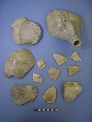 Sherds that make up a Bartmann jug.