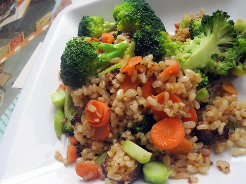light fried rice with tempeh