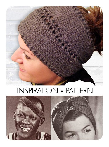 Pattern Convertible Center Row Lace Headband Neck Warmer Rewind