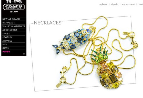 poppy rhinestone necklaces
