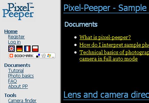 Pixel Peeper.
