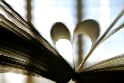 ♥ in a book