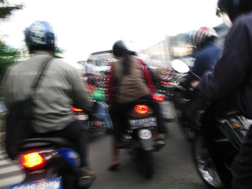 Mopeds Swarm Jakarta