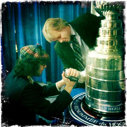 Hey it's @Nardwuar with Phil & the Stanley Cup