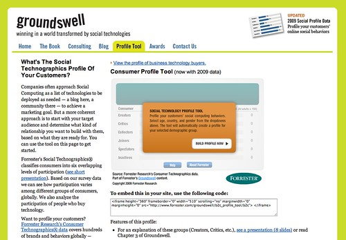 Tech: Groundswell Profile Tool