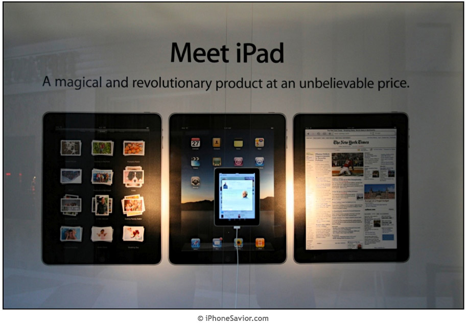 Meet iPad Window Display