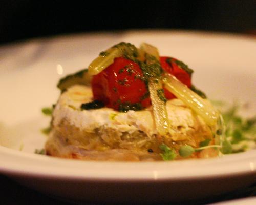 leek and tomato tart