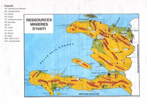 haiti mineral map