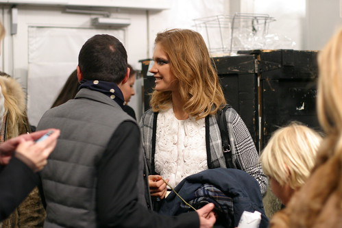 Natalia Vodianova Backstage at DVF