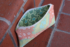 Amy Butler Flower Pouch Inside