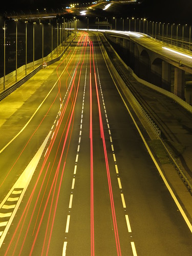 M2 Motorway At Night (2)