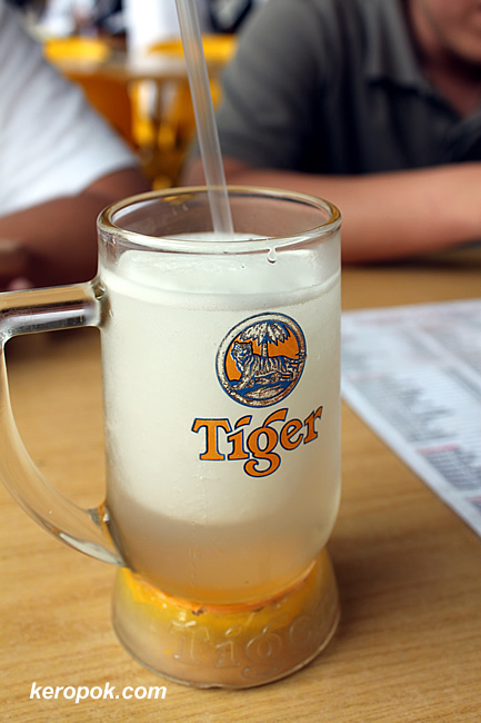 Tiger Beer, no it's Lime Juice