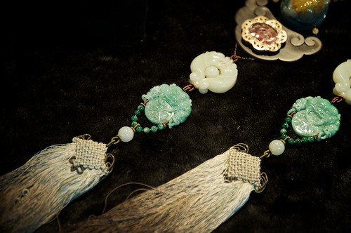 Beautiful jade jewelery at the Taipei Jinaguo Jade Market