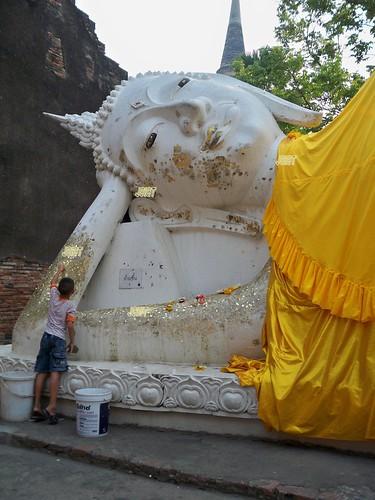 Thailand พระนอน วัดใหญ่ชัยมงคล -Wat Yai