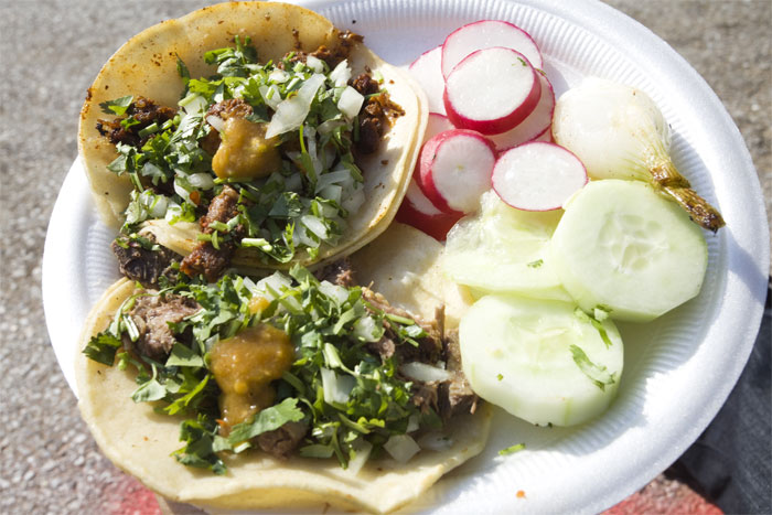Pork and lengua taco