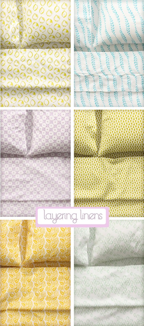 Cozy Sheets + How To Layer Patterns