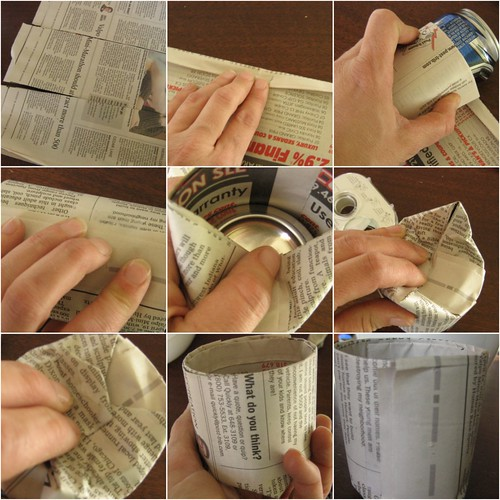 newspaper cup collage