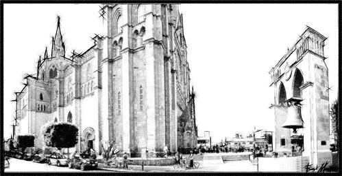 Panoramica Parroquia San Jose Obrero, Arandas Jalisco Mexico