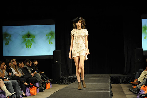 A perfect springtime dress showcased during Ve...