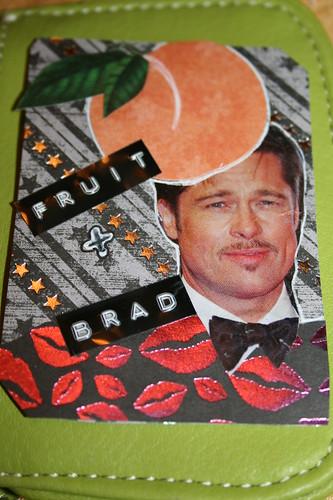 A fruit and  Brad make-a Peach Pitt! ATC