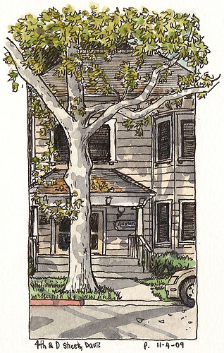 a house and tree on 4th and D