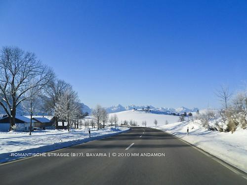 Scenic drive from Landsberg a. Lech to Schwangau, Bavaria