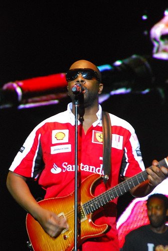 Wyclef & his guitar