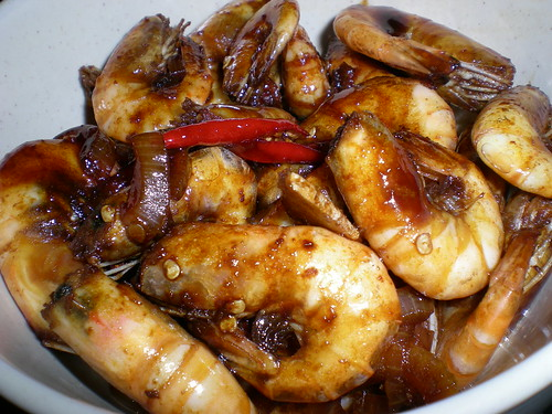 STP's prawns in sweet soy sauce