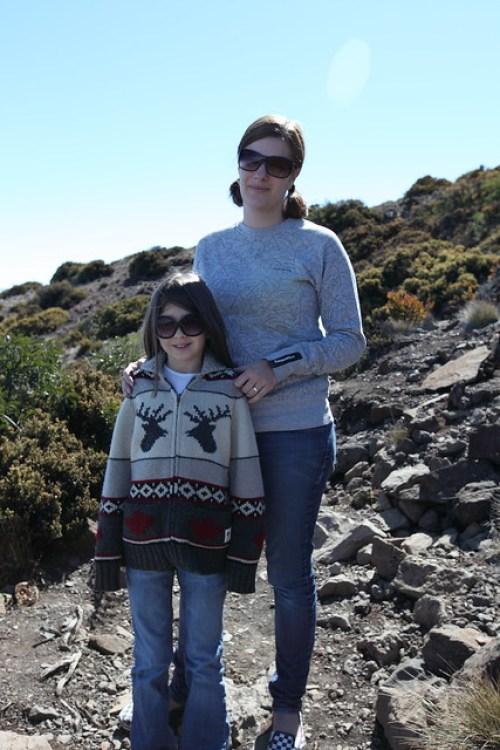 Tanie & Sym on Haleakala