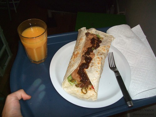 Homemade burrito