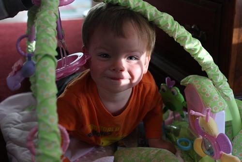 Linus playing