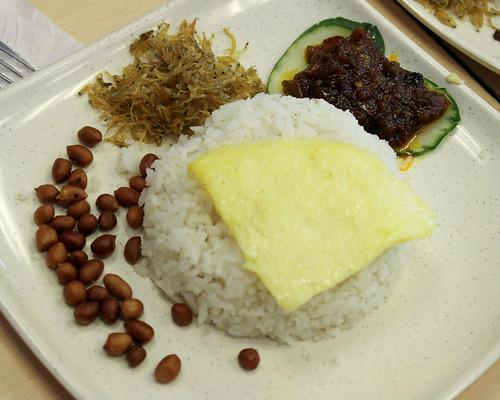 Nasi Lemak at Singapore Chicken Rice