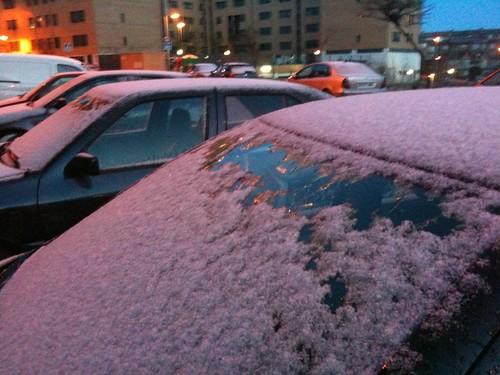 Nieve en Arganda 26 de enero de 2010