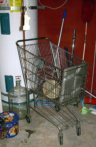 Basement shopping cart