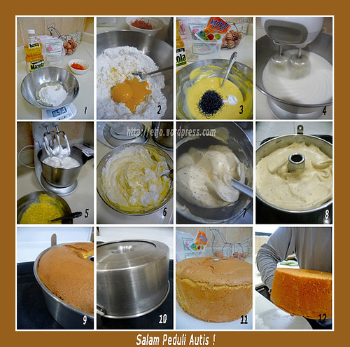 Step By Step Orange  CFGF Chiffon Cake