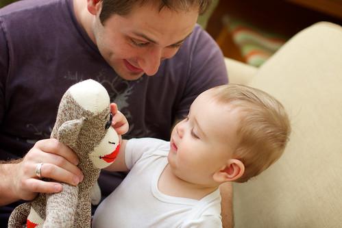 Sock Monkey Baby and Dada