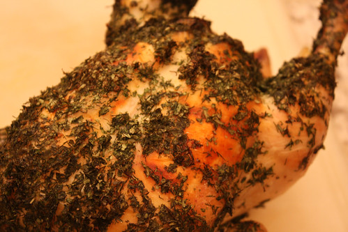 Herb Crusted Roast Chicken