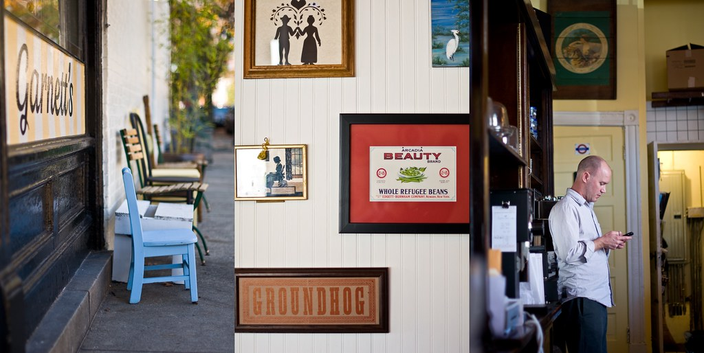 three pictures of Garnett's Cafe