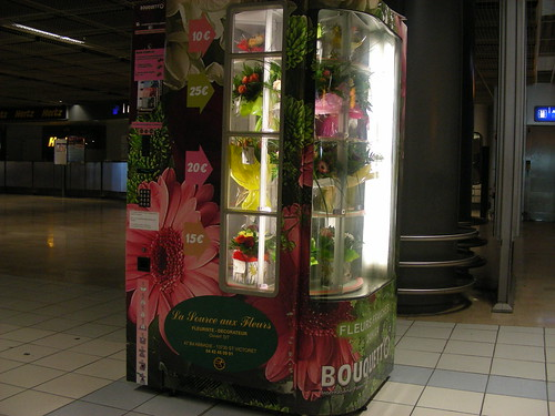 marseilles airport flower dispenser