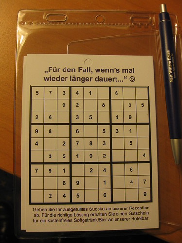 Solve the Sudoku for Free Beer!