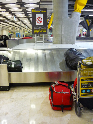 Luggage arriving