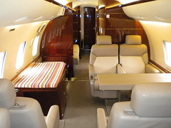 Execujet private charter Learjet cabin