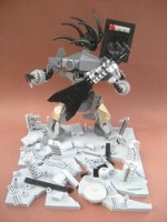 LEGO Metal Militia alien rocker sculpture