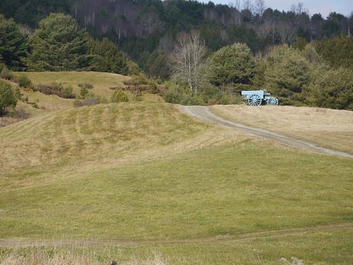 Hogwash - Field and blue wagon