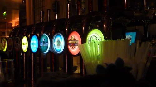 Beer pumps at The Porterhouse Central