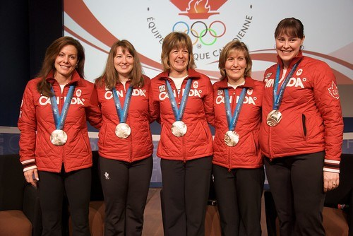 Canadian Women's Olympic Silver Medalist Curling Team