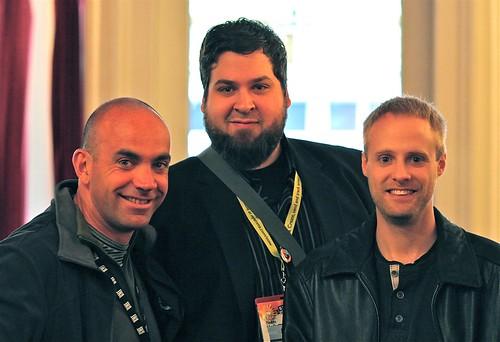 ping.fm co-founders Sean McCullough, Adam Duffy and Loic Le Meur at SXSW09