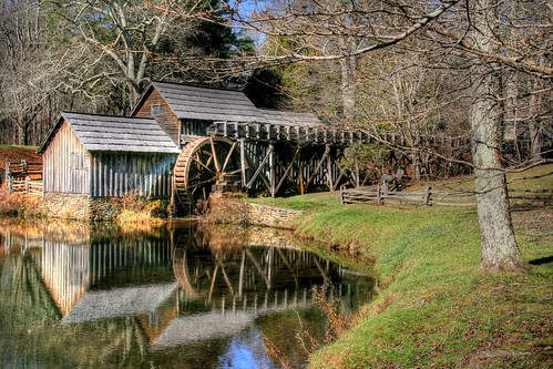 Winter at Mabry Mill