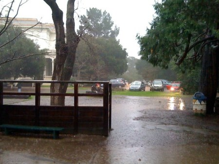 Rain this morning