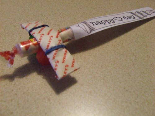 Candy Airplane Valentine